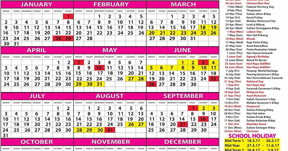 Citaten School Holiday : Kalendar cuti umum malaysia persekolahan