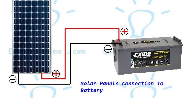 How to connect a solar panel to a battery? | Electrical Online 4u