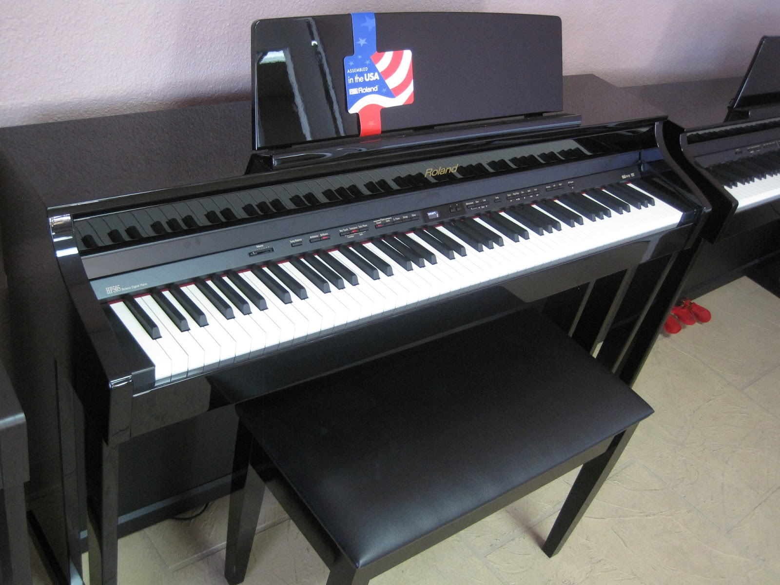 review roland hp503 hp505 hp507 lx15 digital pianos. Black Bedroom Furniture Sets. Home Design Ideas