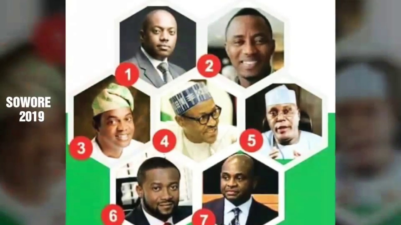 INEC -  Names Of All 2019 Nigeria Presidential Candidates & Their Political Parties
