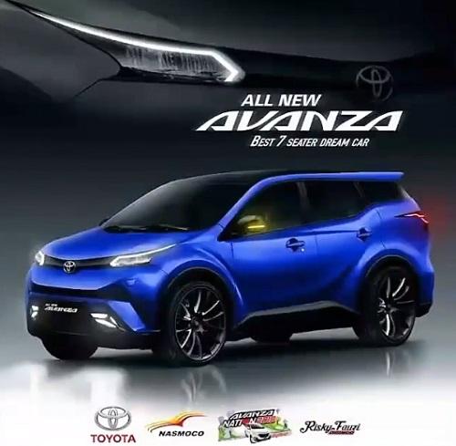 Design warna biru Toyota Avanza