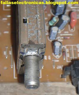 conector de antena tv roto