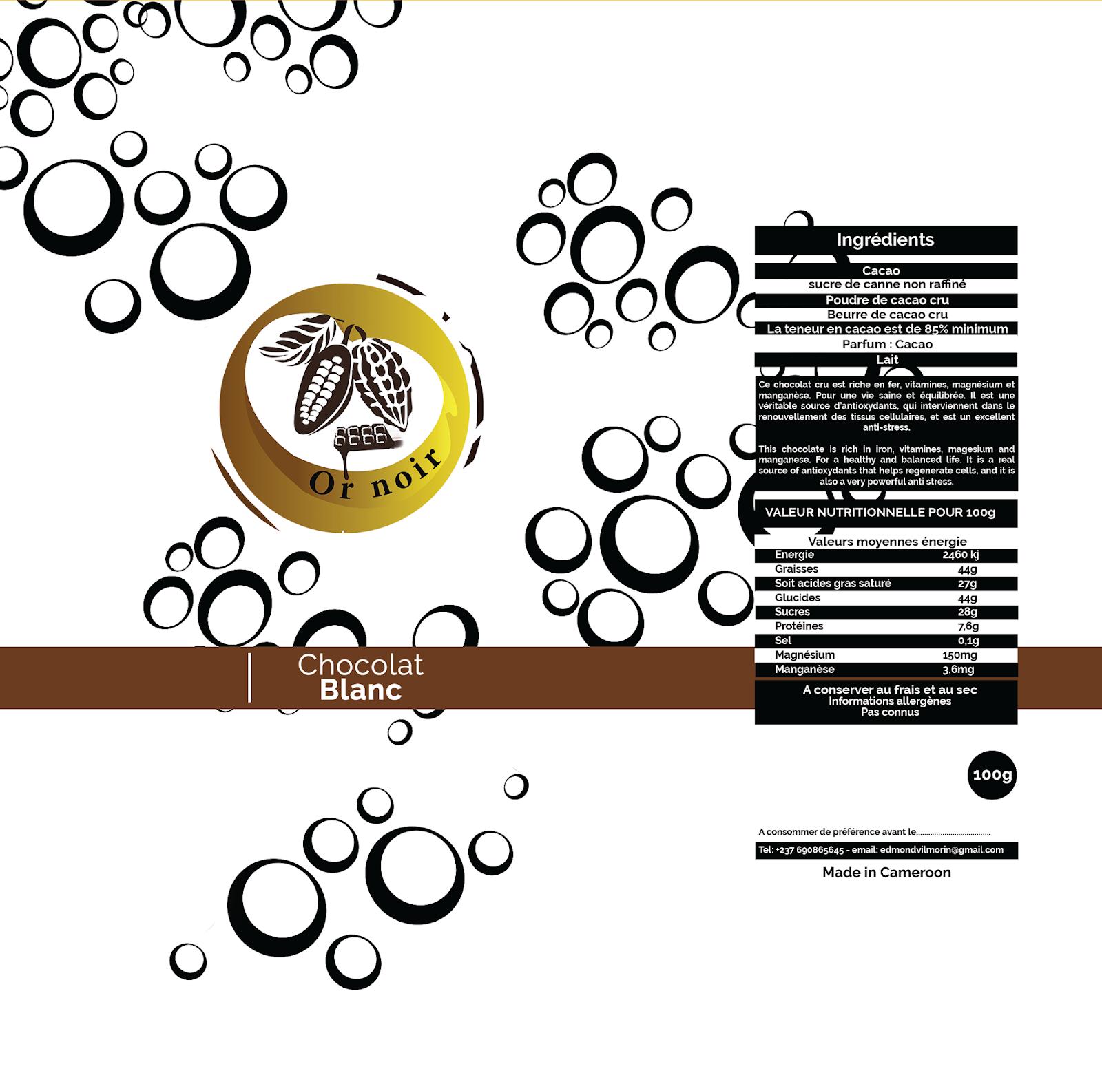 Chocolat blanc - Or noir