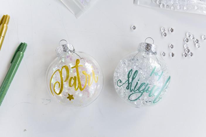 Bolas personalizadas con lettering