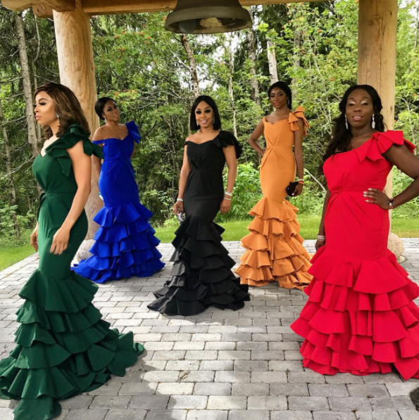 Photos from Toke Makinwa's sister's wedding in Norway