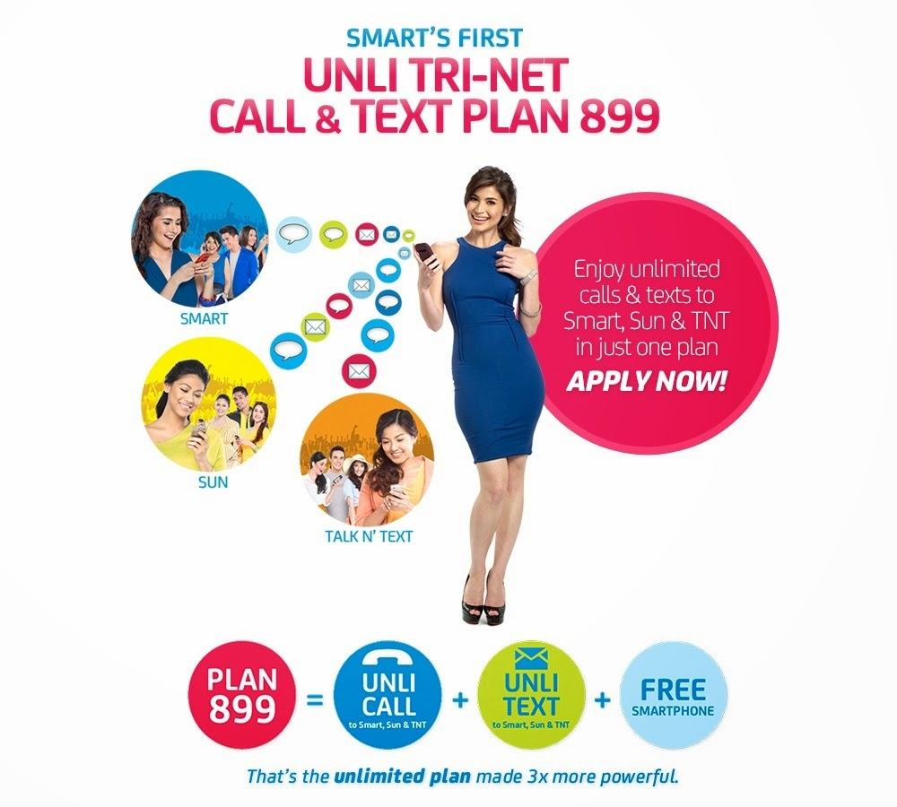 Smart, Sun launch Unli Tri-Net Call and Text Plan 899