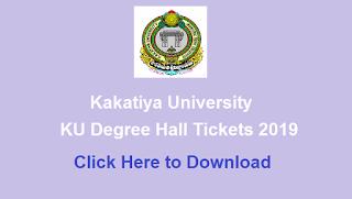 Manabadi KU Degree Hall Tickets 2019 Download