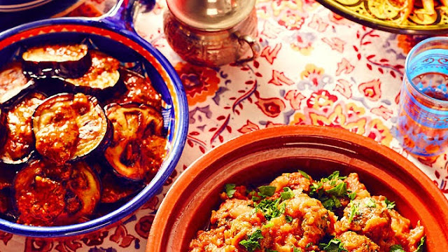 This spicy eggplant dish makes a hearty side to any Moroccan feast Spiced fried eggplant recipe