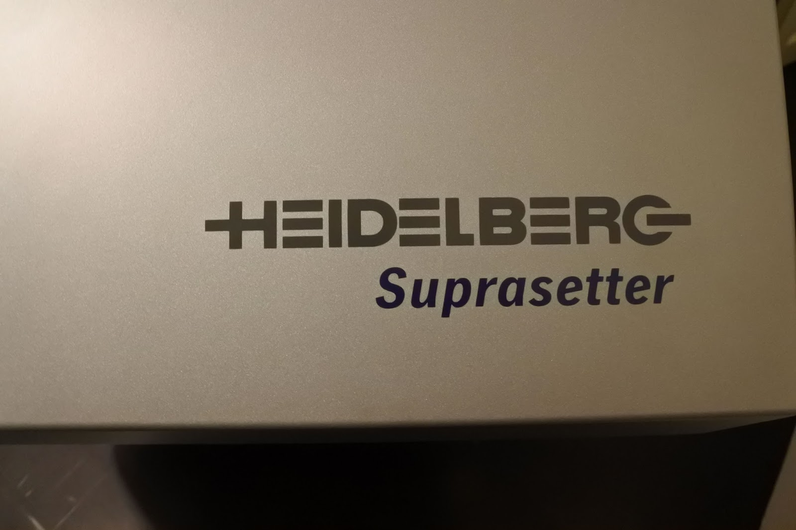 Modernt tryckeri Heidelberg suprasetter