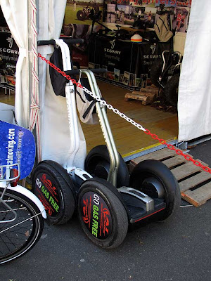 Segway on display, piazza XX Settembre, Livorno