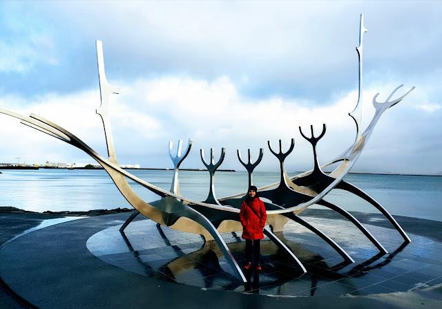 Sculpture in Reykjavik Iceland