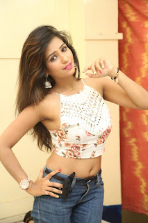 Deekshita Parvathi in a short crop top and Denim Jeans Spicy Pics Beautiful Actress Deekshita Parvathi January 2017 CelebxNext (151).JPG