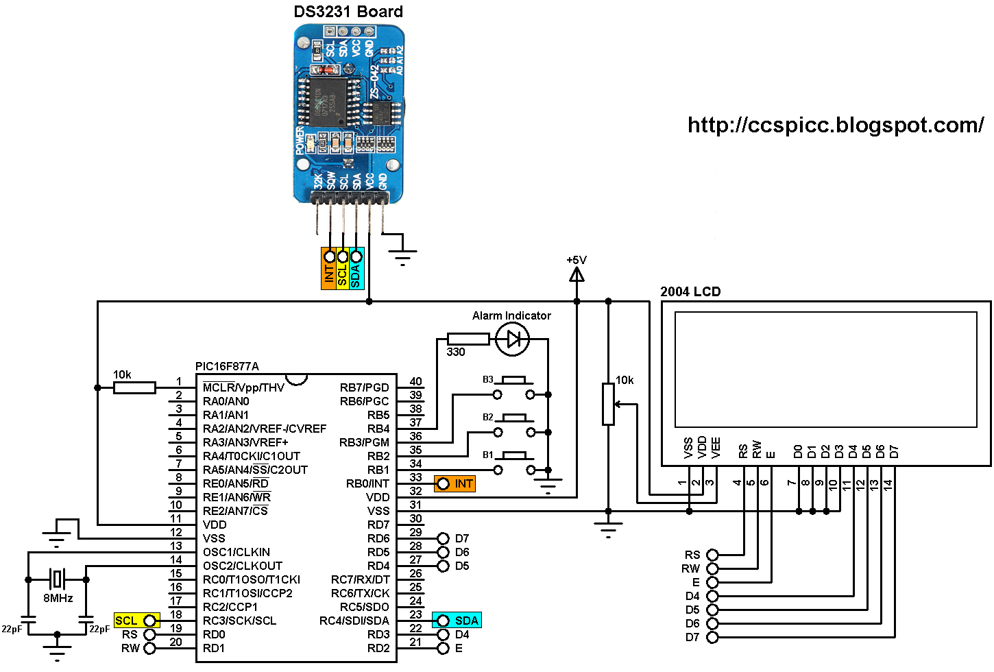 Real Time Clock Calendar With 2 Alarms And Temperature