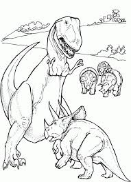Battle Tyrannosaurus Coloring Pages