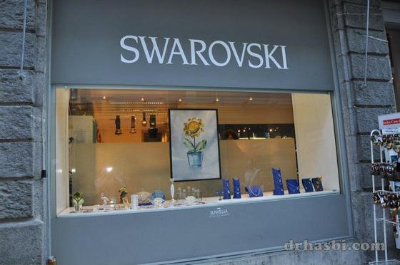 Membeli-belah permata Swarovski di Zurich Switzerland