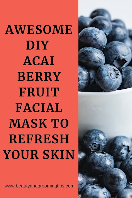 acai berry fruit facial mask