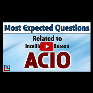 t Expected Questions | Intelligence Bureau ACIO | General Studies | All Competitive Exams