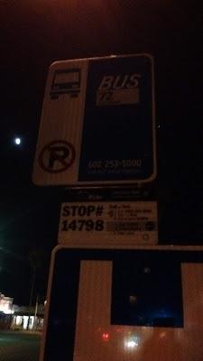Valley Metro bus stop #14798 sign