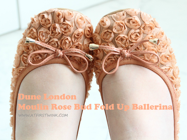 Dune Moulin Rose Bud Fold Up Ballerina review