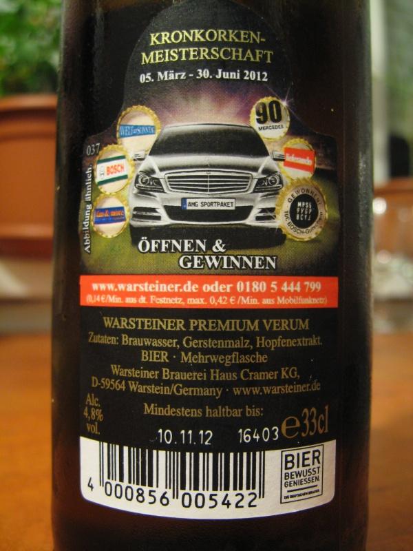 Sörök bemutatója tesztje Warsteiner Premium Verum 4