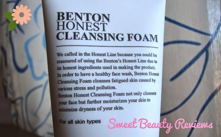 Benton Honest Cleansing Foam SweetBeautyReviews