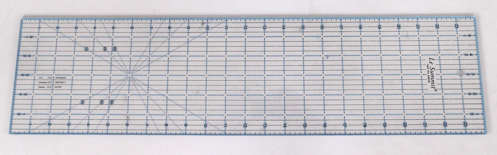 quilting ruler, transparent ruler, fabric ruler, patchwork ruler