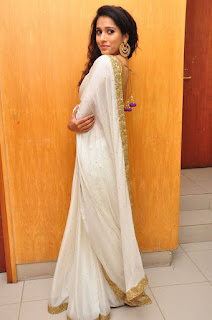 Rashmi Gautham Pictures in White Saree at tur Talkies Audio Launch ~ Bollywood and South Indian Cinema Actress Exclusive Picture Galleries