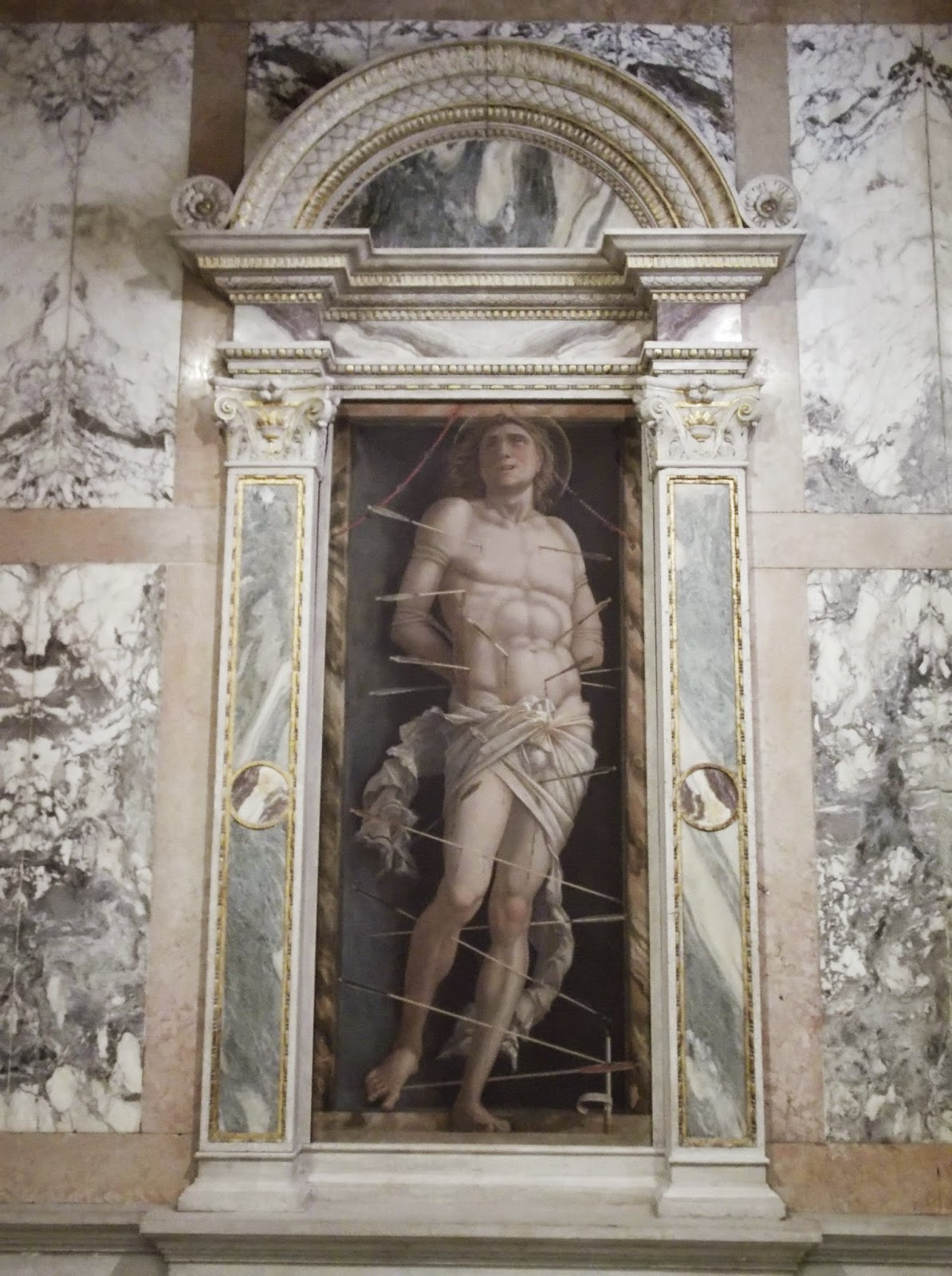 The painting of Saint Sebastian by Mantegna in the Ca' d'Oro, Venice.