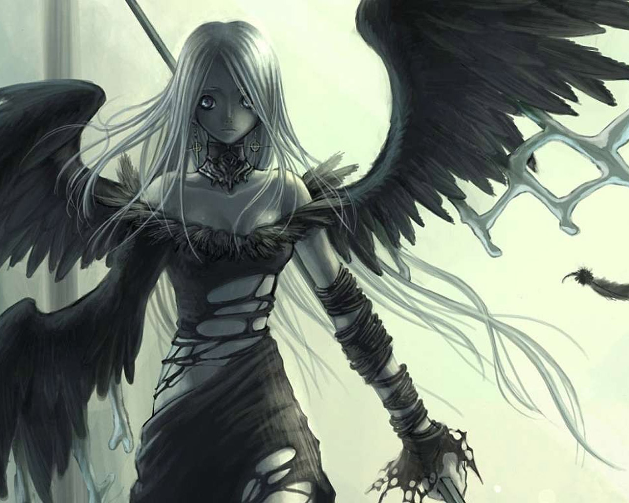 Dark wallpapers angels wallpapers - Dark anime girl pics ...