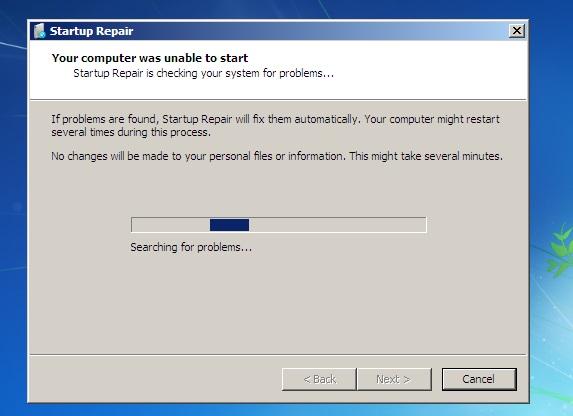 طريقة حل مشكلة الاقلاع فى نظام ويندوز 7