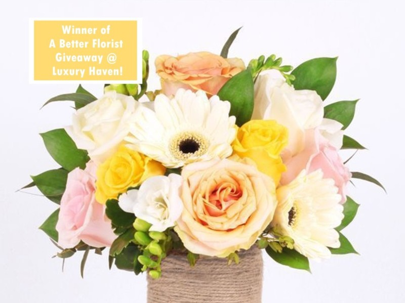 better florist giveaway spring breeze winner