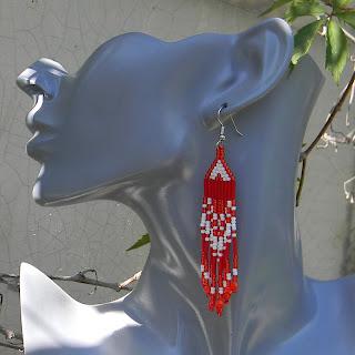 Серьги из бисера купить подарок девушке россия