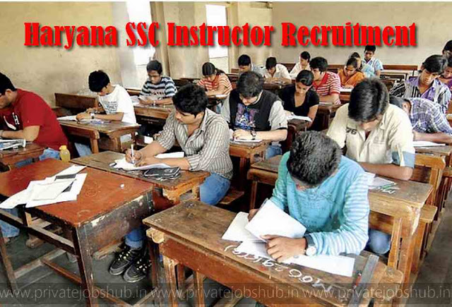 Haryana SSC Instructor Recruitment