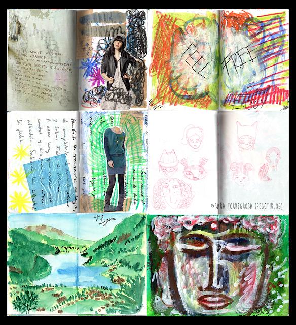 Pegotiblog - Art journaling - Skecthbook illustrations 03