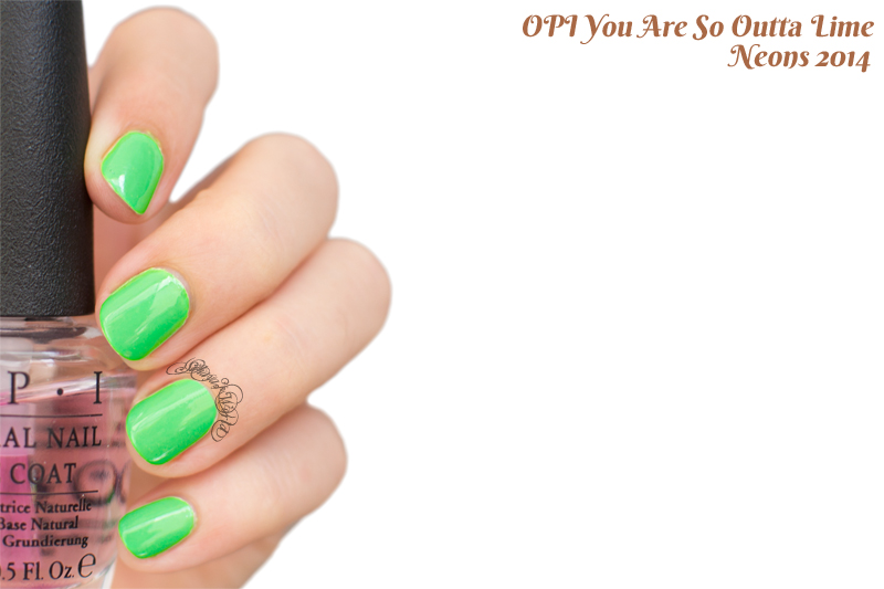opi neons 2014 you are so outta lime swatch