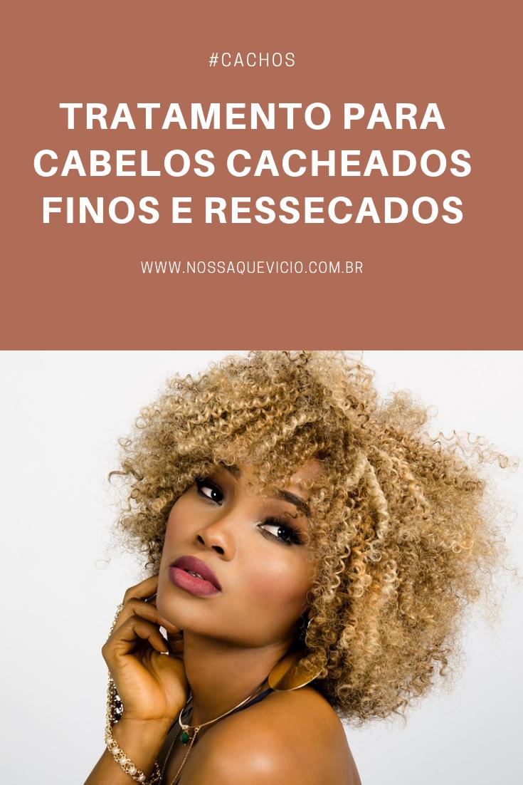 TRATAMENTO PARA CABELOS CACHEADOS FINOS E RESSECADOS