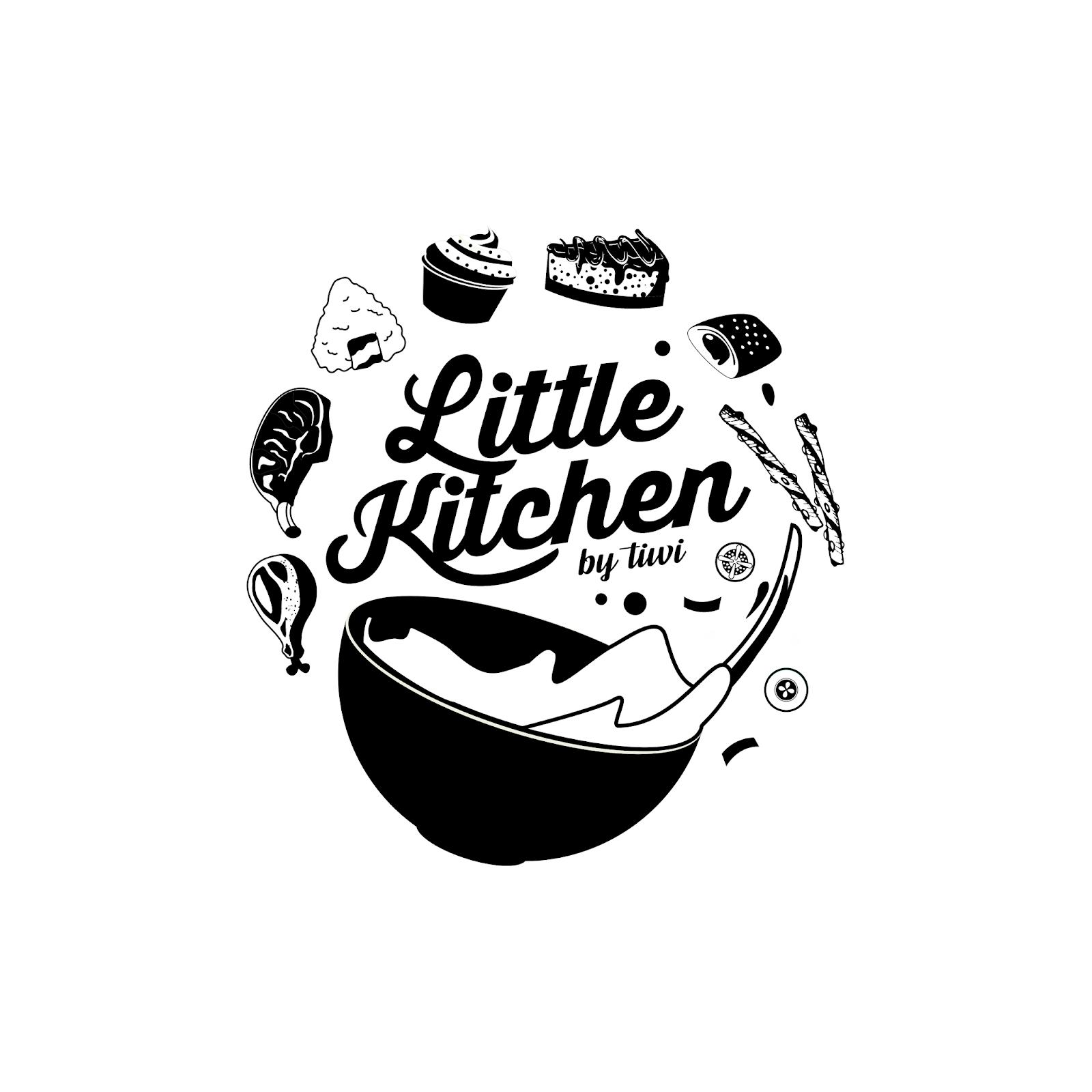 Logo Bisnis Kuliner Little Kitchen Kebun Design Branding