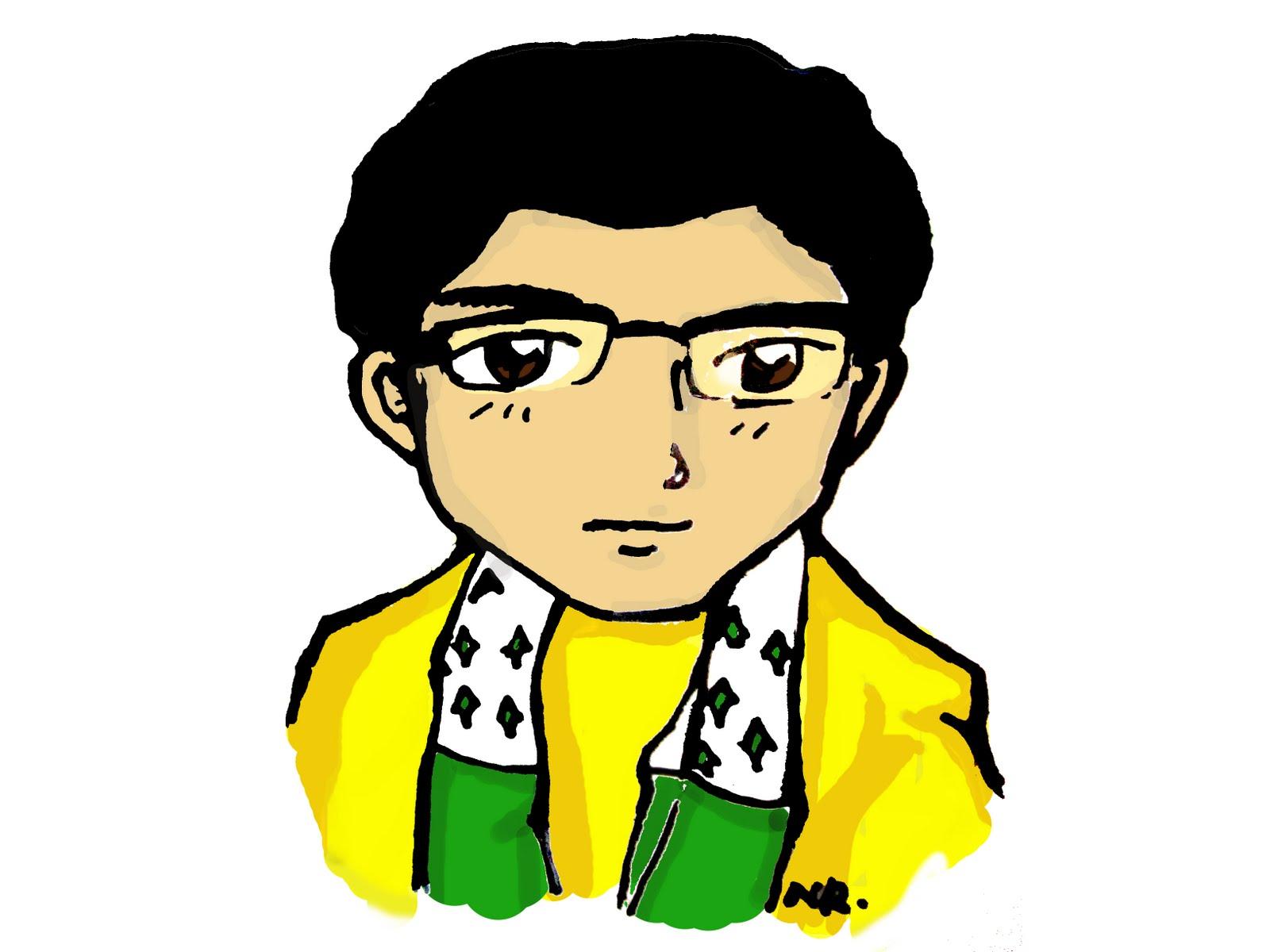 Kartun Muslim Pria Kolek Gambar