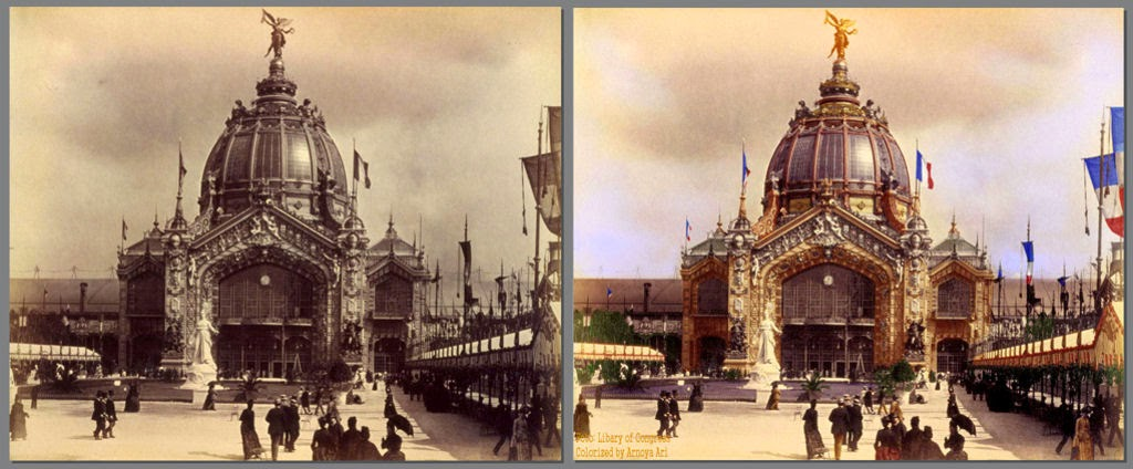 l'Exposition Universelle 1889, color colorization colorized