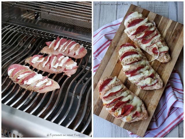 Gegrillte Hähnchenfächer Pizzastyle | Grillen | Rezept