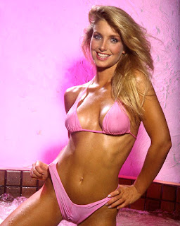 Heather Thomas Pink Bikini Hot Tub