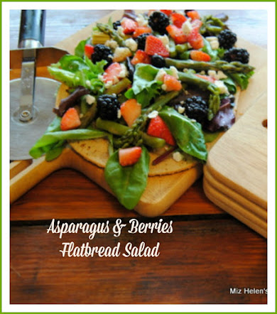 Asparagus and Berries Flatbread Salad