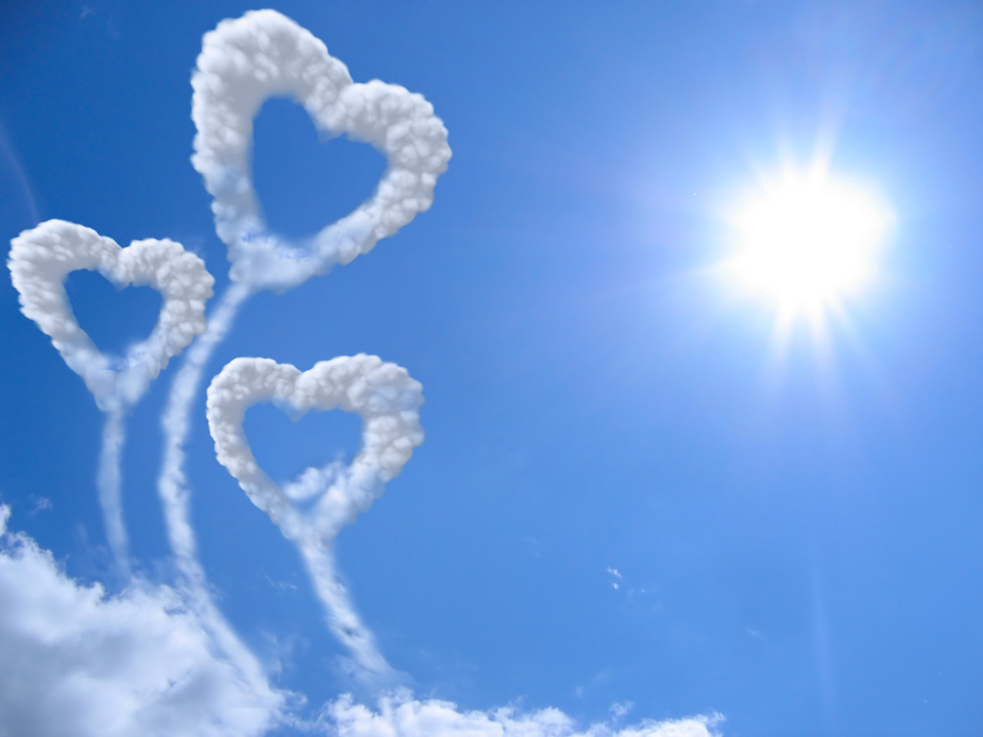Valentine's Day - Heart shaped cloud wallpapers - ART FOR