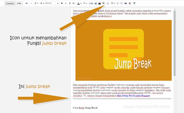Lebih Mengenal Fitur Jump Break Blogspot
