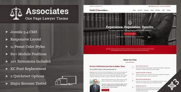 Best Responsive Lawyers Joomla Template 2015