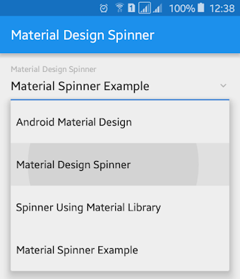 Android Example: How to Make Material Design Android Spinner