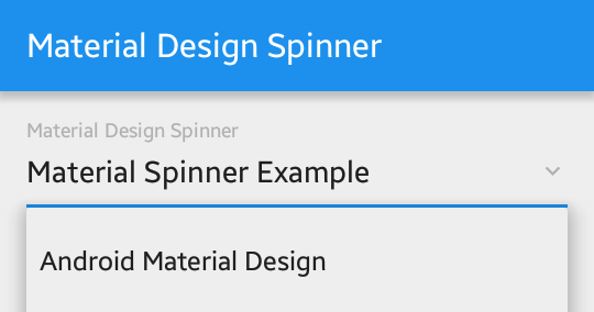 Android Material Design Spinner DropDown Example | Viral