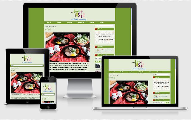 thiết kế blog cá nhân taste at home cooking