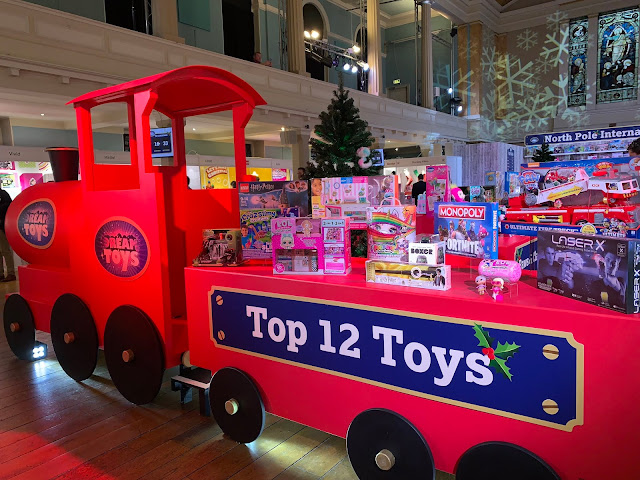 A pretend train displaying DreamToys Top 12 Toys for Christmas 2018