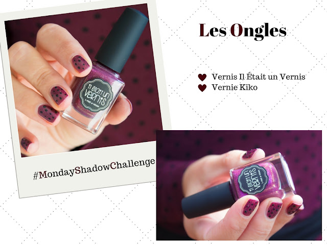 Monday Shadow Challenge : Poupre & Pois :)